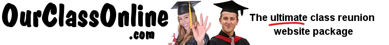 Class reunion web site portal for high school and college classmates